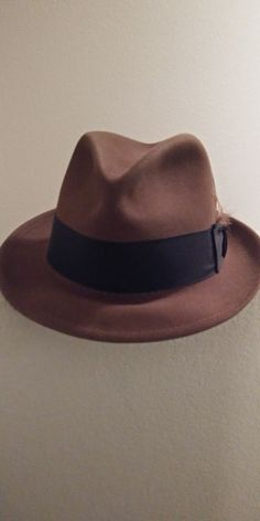 682b0b2d60a08b Vintage Excellent ROYAL STETSON Caribou Felt Fedora Hat Sz 7 1/4 #fashion # clothing #shoes #accessories #mensaccessories #hats (ebay link)