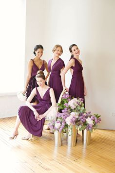 Convertible Bridesmaid Dresses - Purple