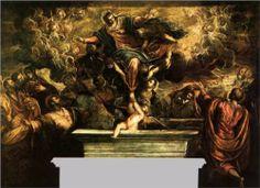 TINTORETTO. La Asunción de la Virgen. 1587. Oil on canvas. 425 x 587 cm.