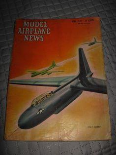 Model Airplane News April 1946 - Vintage Hobby Aircraft Pilot Air Plane Magazine