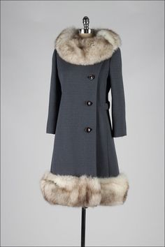 Collection featuring Little Mistress Coats, MICHAEL Michael Kors Coats, and 20 other items Fur Trim Coat, Fur Collar Coat, 1960s Fashion, Timeless Fashion, Vintage Fashion, 1960s Outfits, Vintage Outfits, Vintage Clothing, Michael Kors Coats
