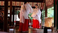 Traditional dance at a Japanese shrine