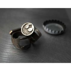 3D Printed Batman, Superman, Rebel Alliance More Bottle Opener Rings ❤ liked on Polyvore featuring jewelry and rings