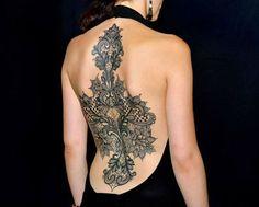 37 Modèles tatouage femme dentelle - 26