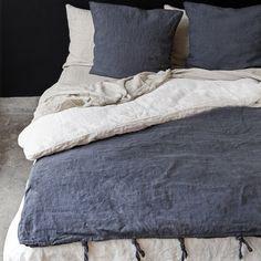 Housse de couette en lin / Linen duvet cover www.secret-maison.com