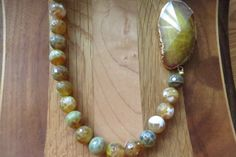 Fire Crackle Agate Bead Necklace by IrisMDesigns on Etsy, $60.00