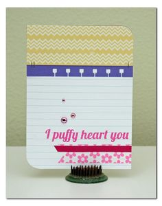 Excited to see this sentiment from my Puffy Hearts stamp set from TechniqueTuesday.com on Summer Fullerton's card. Thanks for using it, Summer!