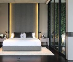 Home Decorating Idea Phot Contemporary Bed 68 Contemporary Interior, Modern Interior Design, Home Bedroom, Bedroom Decor, Mid Century Modern Bedroom, Bedroom Paint Colors, Suites, Luxurious Bedrooms, Bed Design