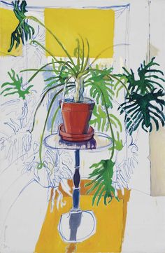 """thunderstruck9: """" Alice Neel (American, 1900-1984), Philodendron, 1970. Oil on canvas, 80 x 52 in. """""""