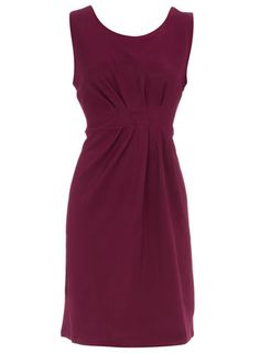 Purple gathered waist dress