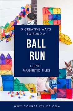 Get creative with these fun magnetic tile STEM ball run ideas for kids! #stemforkids #openendedplayideas #openendedtoys #magnetictileballruns #magnetictileideas Steam Activities, Science Activities For Kids, Team Building Activities, Preschool Activities, Physical Education Games, Physical Activities, Music Education, Health Education, Elementary Music