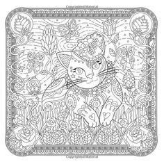Cat Colors Coloring Book Pages Colour Board Adult Colouring Secret Places Zen Mystic The Lovers Libros Paint