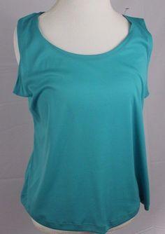 Notations Womens Sleeveless Top size XL Blouse Wide Strap Shirt Blue Tank Top  #Notations #TankCami