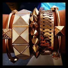 amandahugnkissss:  overdosed on gold . #jotd #jewelry (Taken...