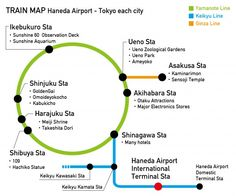 Haneda airport - Tokyo each city