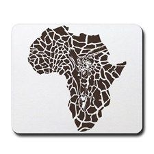 Africa in a giraffe camouflage Mousepad