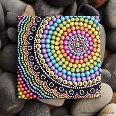 Rainbow Aboriginal Dot Art Painting by Biripi by RaechelSaunders