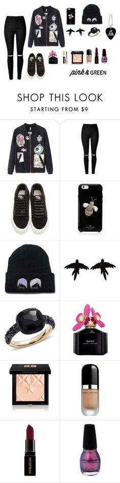 """Untitled #1122"" by nestor-ana ❤ liked on Polyvore featuring Vans, Kate Spade, olgafacesrok, Pomellato, Marc Jacobs, Givenchy and Smashbox"