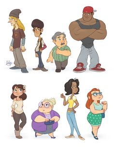 Hey everyone! Here are all the characters I've been showing this week. In case you've been wondering, these characters are the first of many new designs I'll be working on for a new portfolio! This...