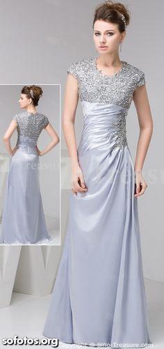 Vestidos de festa prata para madrinhas