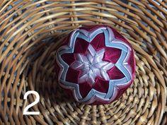 Dekorácie - vianočné patchworkové gule bordovo-strieborné so staroružovou - 7148738_