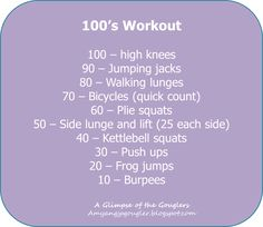 100's workout