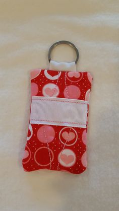 Heart Fabric Keychain with pocket by MadeByRandR on Etsy