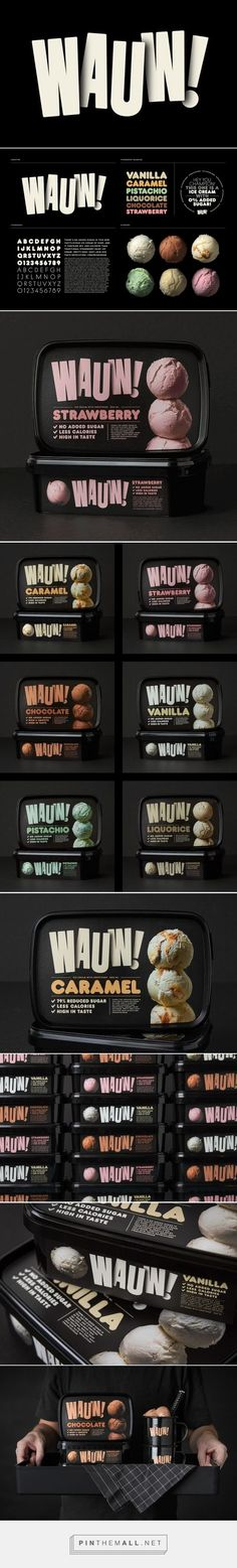 on Packaging of the World - Creative Package Design Gallery - created on Packaging Box, Ice Cream Packaging, Brand Packaging, Web Design, Label Design, Logo Design, Packaging Design Inspiration, Graphic Design Inspiration, Logos Online