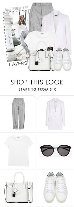 """""""Summer to fall layering 3"""" by jan31 ❤ liked on Polyvore featuring Topshop, Givenchy, Monki and Yves Saint Laurent"""