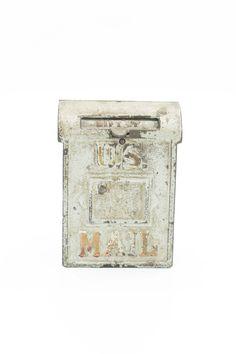 Antique U.S. Mail Cast Iron Bank c1906 Cast iron U.S. bank by Kenton.