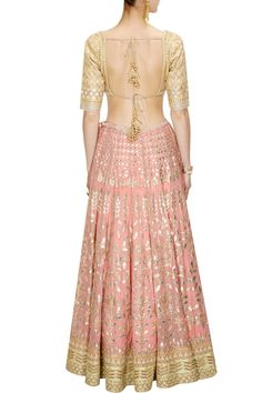 Pinkish Peach color Bridal Lehenga Choli – Panache Haute Couture