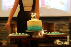 Ombre cake and cupcakes #ombre #cake #21st #party