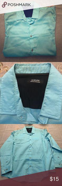 Alfani wrinkle resistant dress shirt 100% cotton Alfani Shirts Dress Shirts