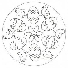 easter mandala coloring page