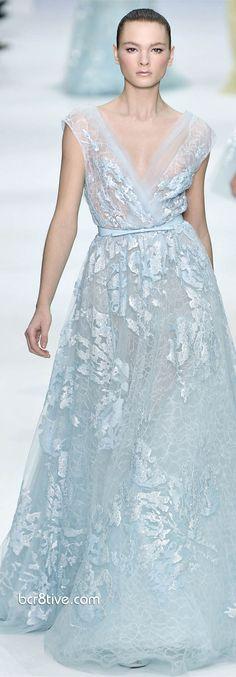 Elie Saab Spring robin's egg blue dress