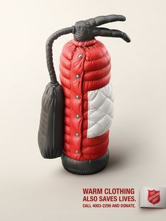 Salvation Army Print Ad - Warm clothes also save lives, 1