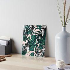 """Tropical Jungle Leaves Pattern #5 #tropical #decor #art"" Art Boards by anitabellajantz | Redbubble"