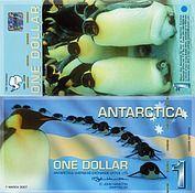 Banknote Antarctica 1 Dollar 2007