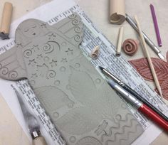 sue Davts is  making more clay angels ....