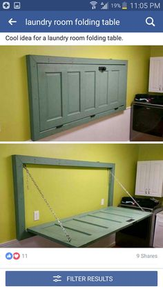 Use this concept to make a laundry folding space.