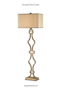 Escapade Floor Lamp. gorgeous simple geometric shape with elegant materials and finishing touches. DesignNashville.com  Transitional Lighting Collection