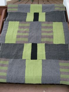 Felted wool quilt from etsy