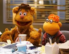Fozzie Bear and Scooter