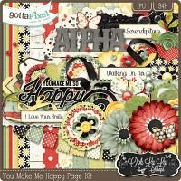 You Make Me Happy Digital Scrapbook Kit $4.99