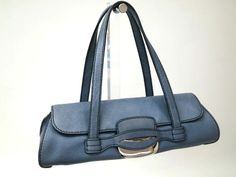 #TODS LEATHER #Handbag BLUE GREY(BF036187) - Now: $115