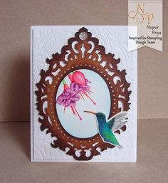 Inspired by Stamping, Nupur Priya, Hummingbirds stamp set, watercolor card, birthday card, thinking of you card