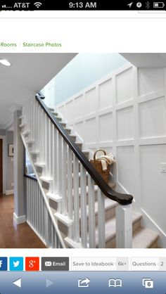 Shaker style handrail possibility for seating built in below