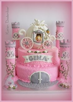 Cinderella gets to go on her cake!!! By dutchcakes on CakeCentral.com