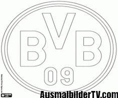 malvorlagen bvb logo coloring and