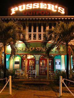 Pusser's Outpost on Tortola, British Virgin Island. A must visit during your trip! ASPEN CREEK TRAVEL - karen@aspencreektravel.com